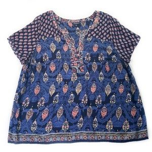 Lucky Brand • Bohemian Short Sleeve Top